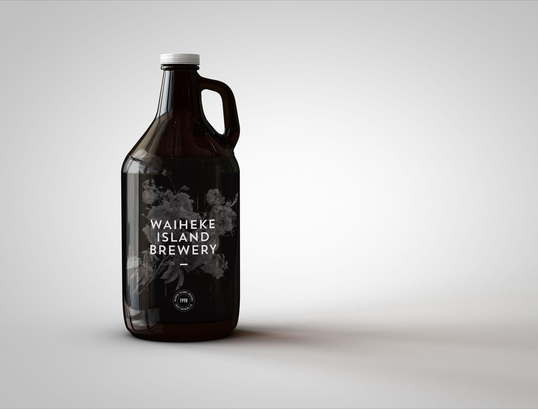 Waiheke Island Brewery flagon concept