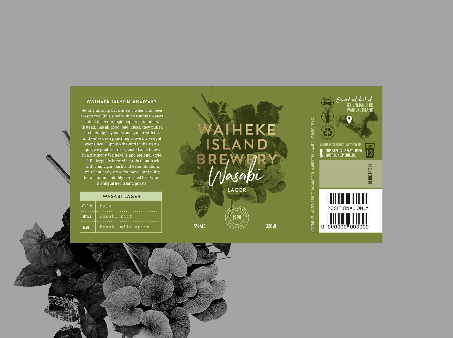 Waiheke Island Brewery Wasabi Lager