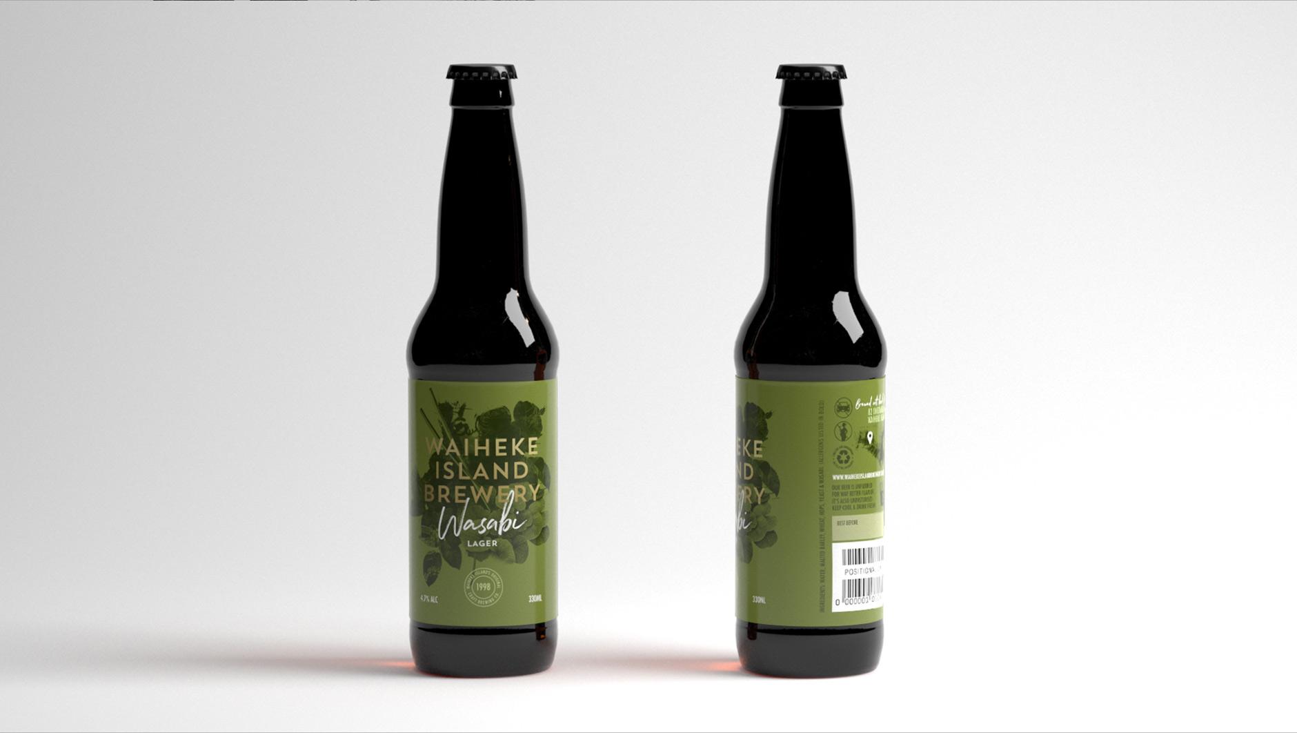 Waiheke Island Brewery Wasabi Lager bottle