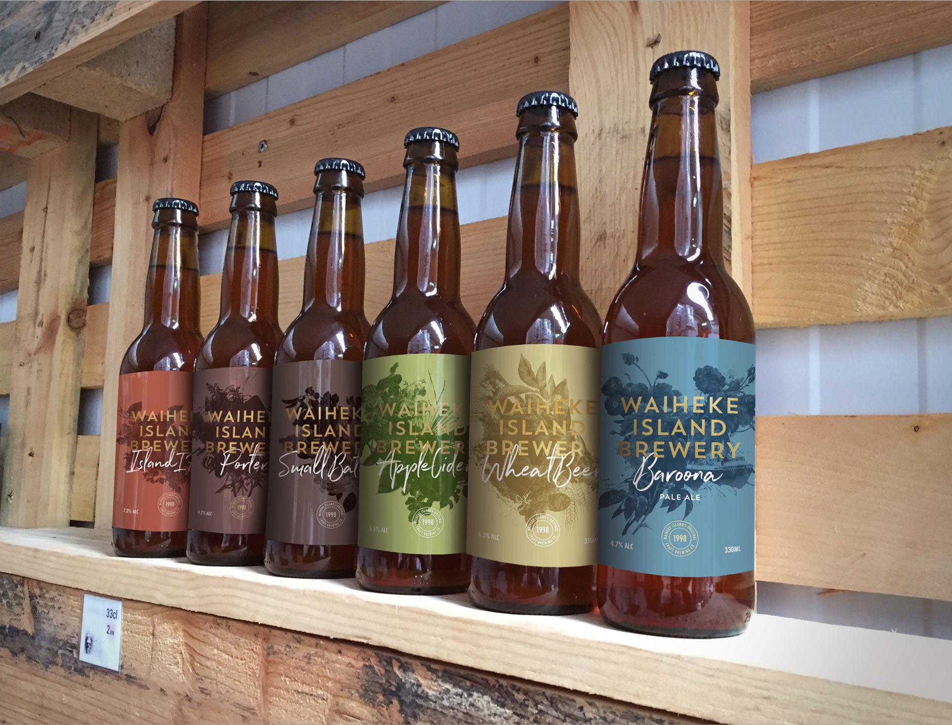 Waiheke Island brewery beer range