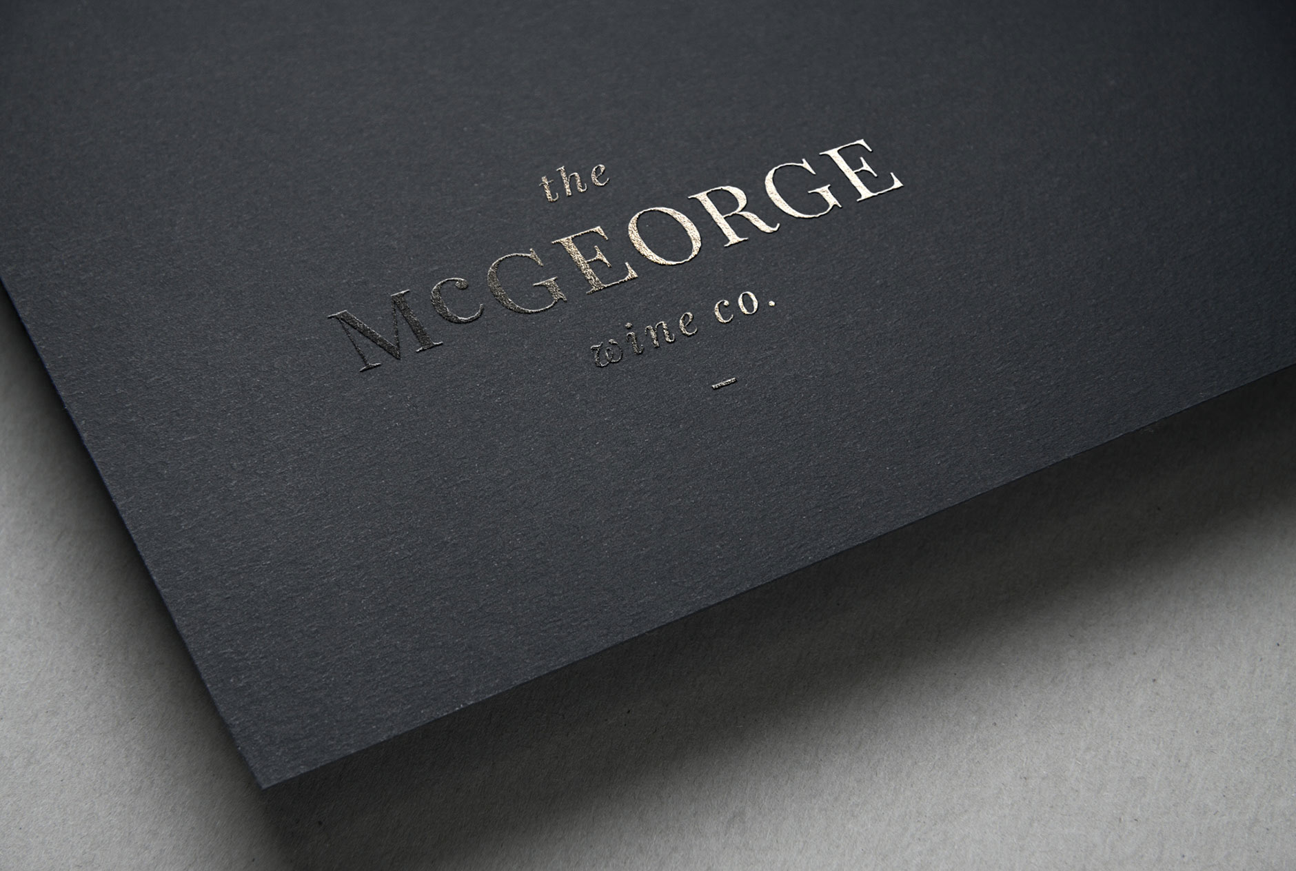 The McGeorge Wine co. logo